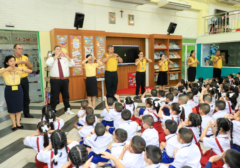 July 22, 2019 Morning Assembly P1-P3 and P2/7 Presentation about King Rama 10