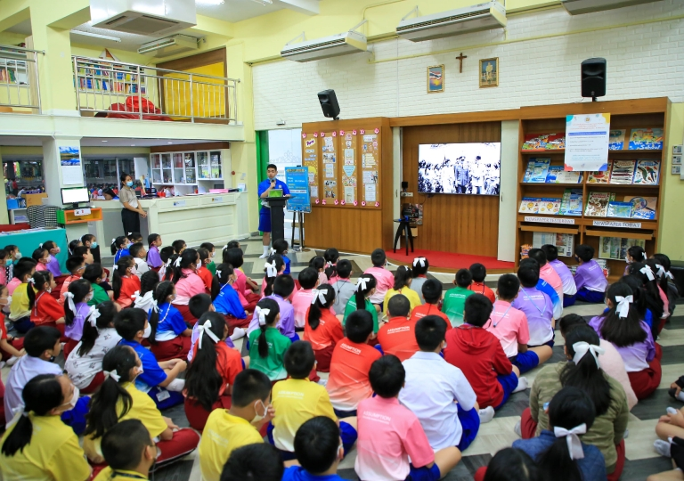 Morning Assembly October 14, 2020 P4-P6 Presentation In Loving Memory ,King Rama IX and Discipline Self - responsibility